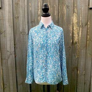 Cable Melbourne Floral Silk Shirt Blouse XS AU8